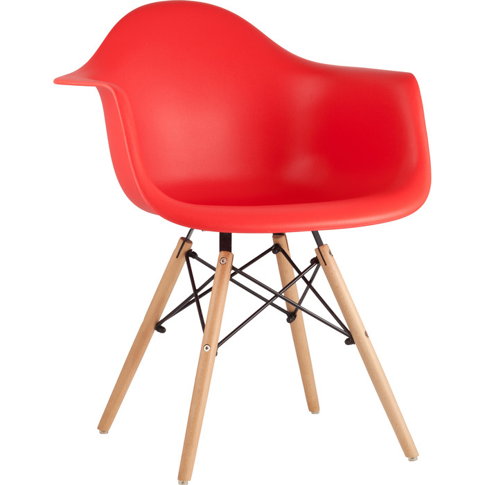 Кресло Stool Group Eames W красное 8066 RED seat dual