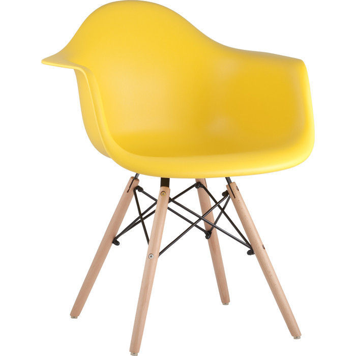 Кресло Stool Group Eames W желтое 8066 yellow seat dual