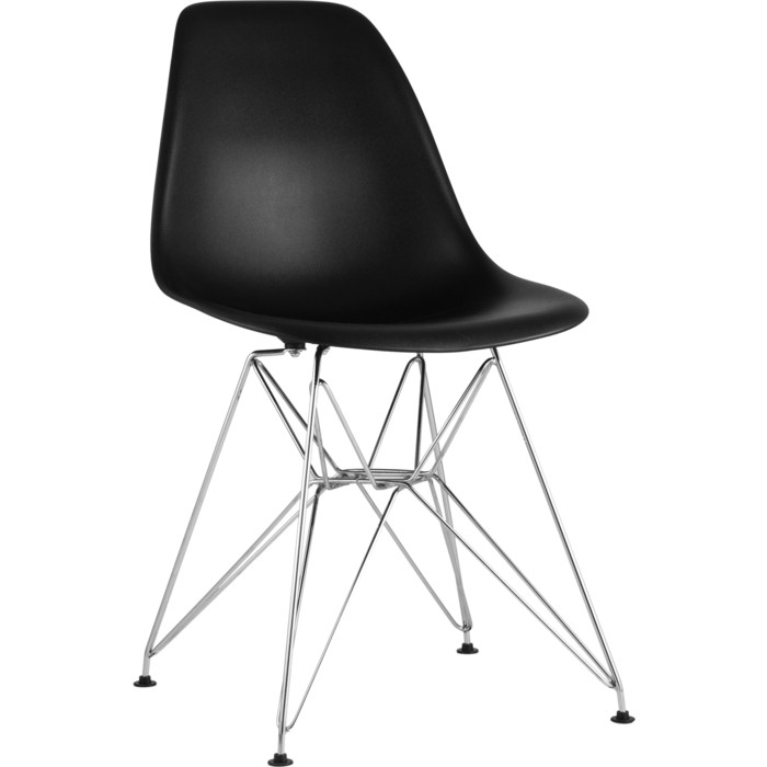 Стул Stool Group Eames черный/каркас металлический 8056A black seat