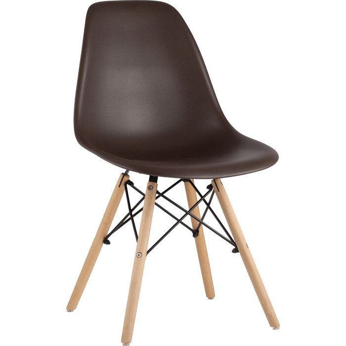 Стул Stool Group Eames коричневый 8056PP light brown 66009 dual