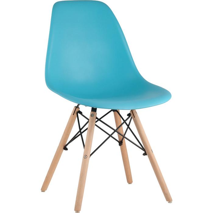 Стул Stool Group Eames бирюзовый/деревянные ножки 8056PP blue недорого