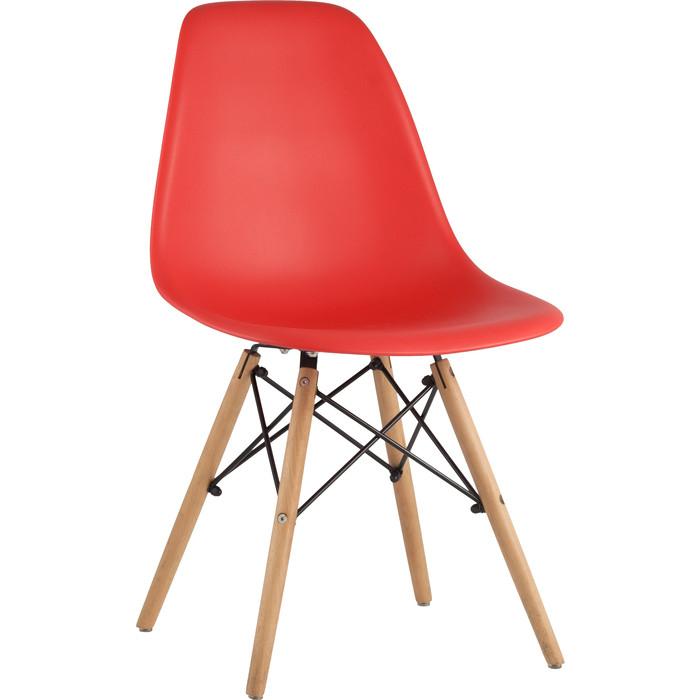 Стул Stool Group Eames деревянные ножки 8056PP red