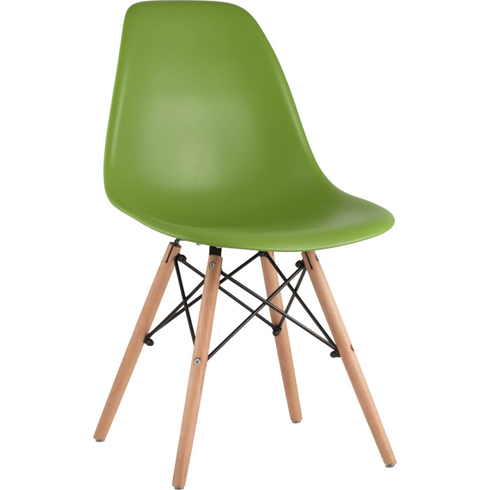 Стул Stool Group Eames деревянные ножки 8056PP green