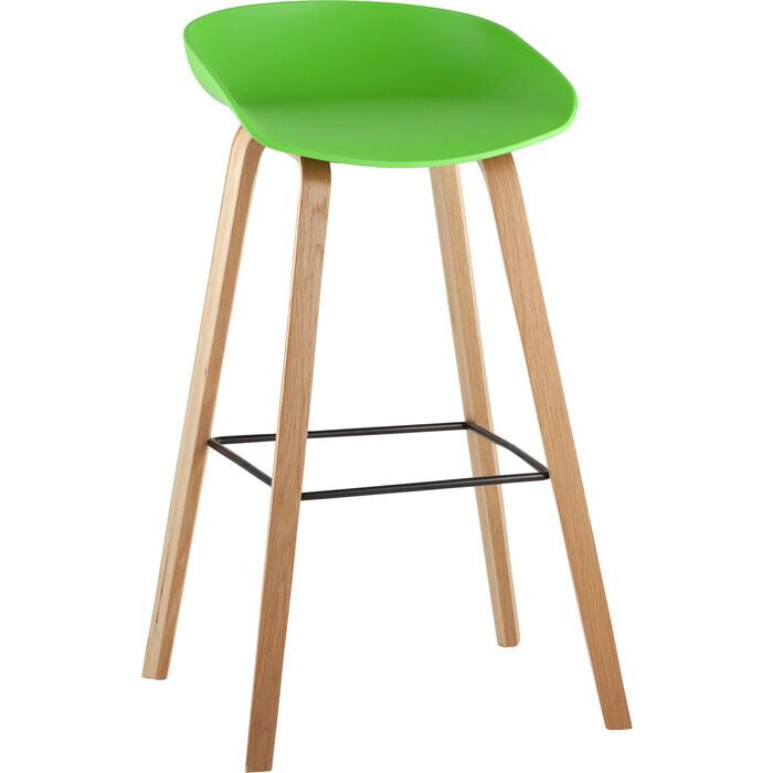 Стул барный Stool Group Libra деревянные ножки 8319 green