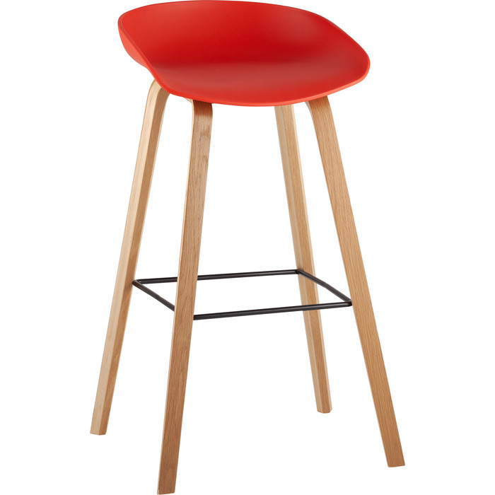 Стул барный Stool Group Libra деревянные ножки 8319 red