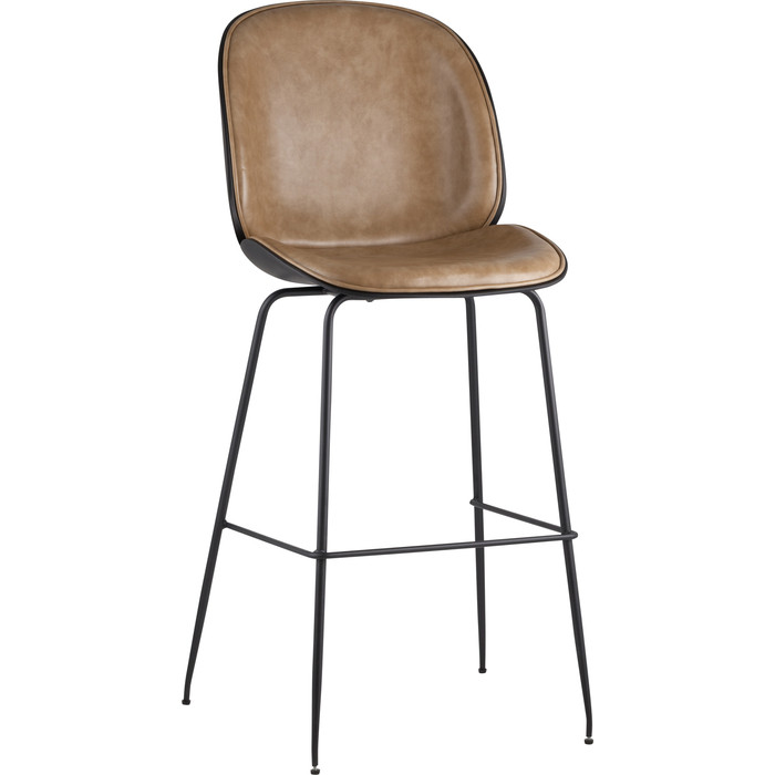 Стул барный Stool Group Турин со спинкой бежевая экокожа/черные ножки 9329C beige недорого