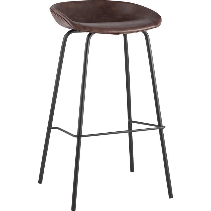 Стул барный Stool Group Турин коричневая экокожа/черные ножки 8319TB brown