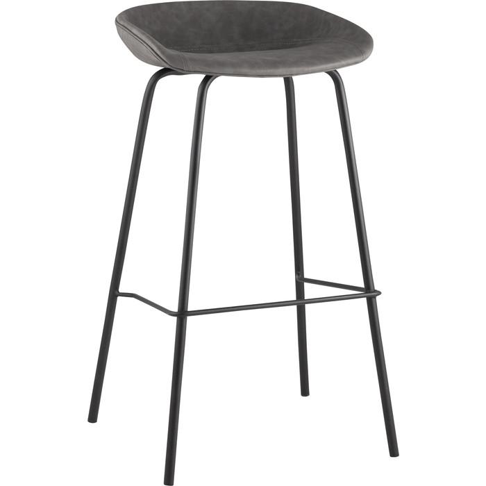 Стул барный Stool Group Турин серая экокожа/черные ножки 8319TB grey недорого