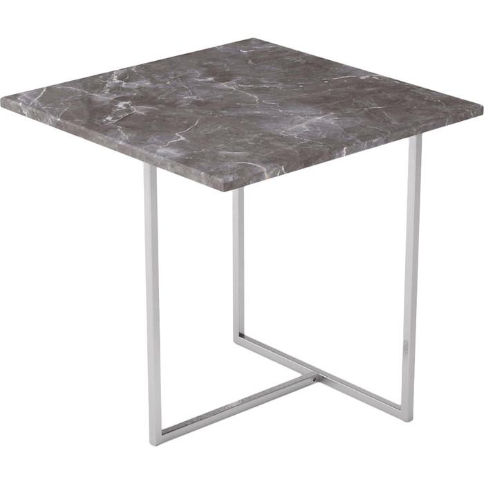 Стол журнальный Калифорния мебель Бекко серый мрамор