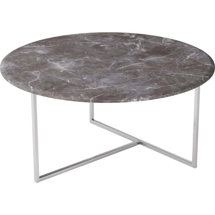 Стол журнальный Калифорния мебель Маджоре серый мрамор