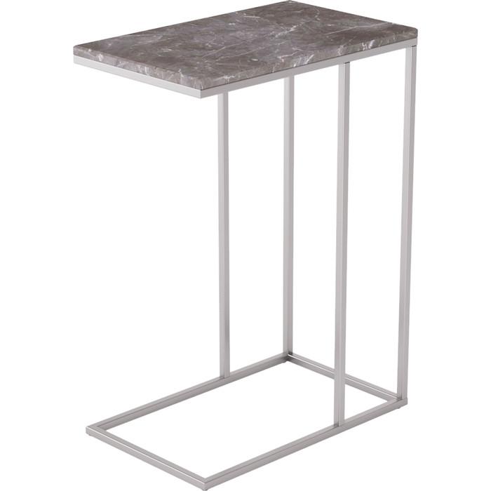 Стол придиванный Калифорния мебель Агами серый мрамор