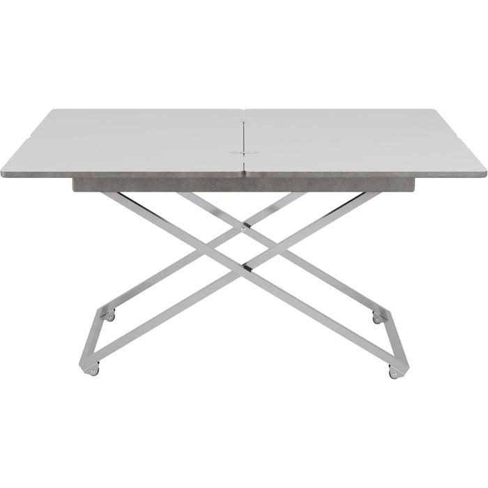 Стол универсальный трансформируемый Калифорния мебель Андрэ Менсола серый бетон