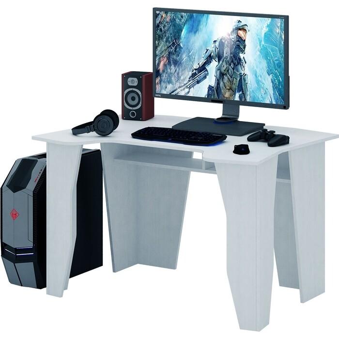 Стол компьютерный Мастер Страйкер-1 белый МСТ-СИС-01-БТ-16