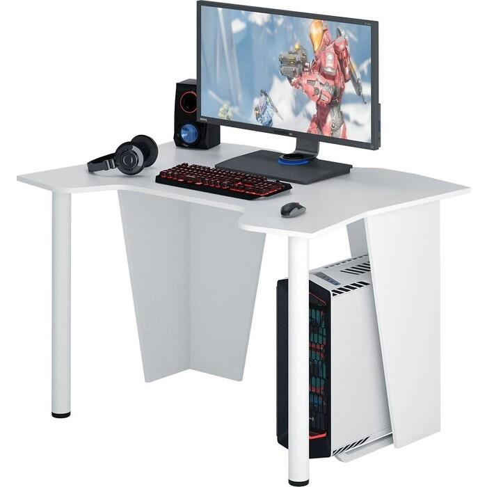 Стол компьютерный Мастер Страйкер-2 белый МСТ-СИС-02-БТ-16