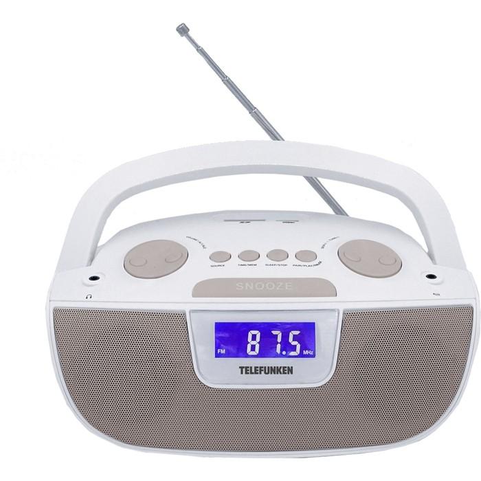 цена на Аудиомагнитола TELEFUNKEN TF-SRP3469 белый