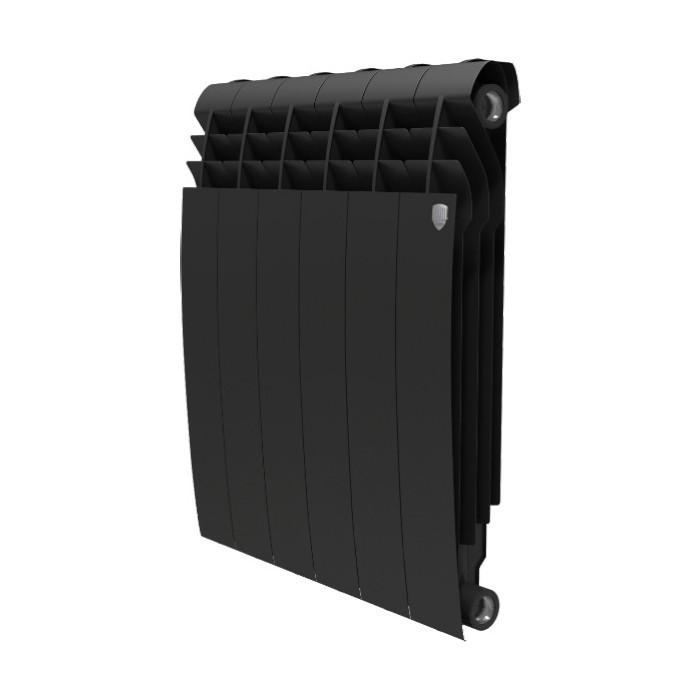Радиатор отопления ROYAL Thermo BiLiner 500 биметаллический, 6 секций, noir sable (RTBNS50006)