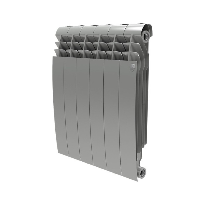 Радиатор отопления ROYAL Thermo BiLiner 500 биметаллический, 4 секции, silver satin (RTBSS50004)