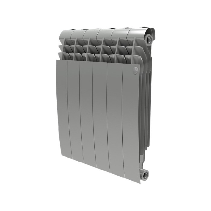 Радиатор отопления ROYAL Thermo BiLiner 500 биметаллический, 6 секций, silver satin (RTBSS50006)