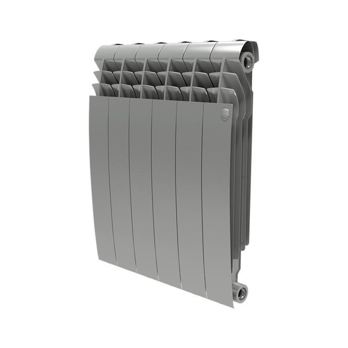 Радиатор отопления ROYAL Thermo BiLiner 500 биметаллический, 8 секций, silver satin (RTBSS50008)