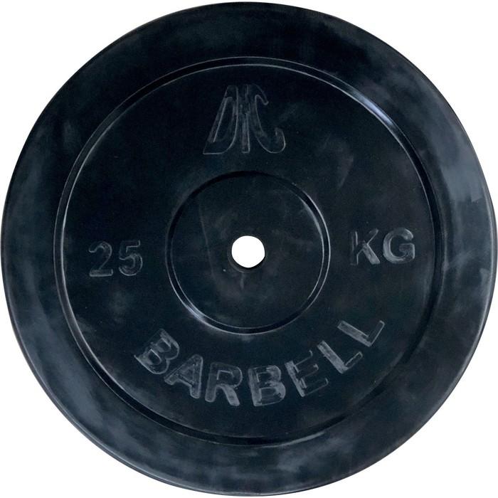 Диск обрезиненный DFC 26 мм. 25 кг. черный