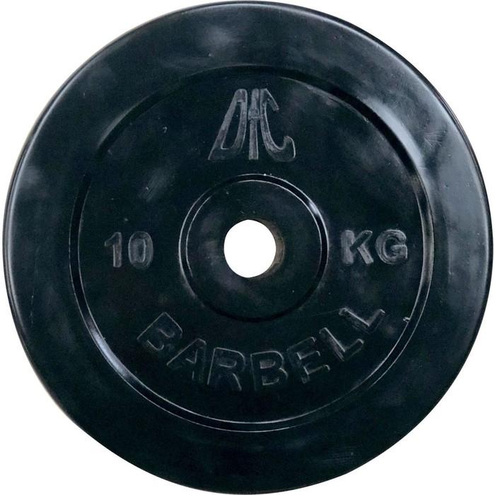 Диск обрезиненный DFC 31 мм. 10 кг. черный