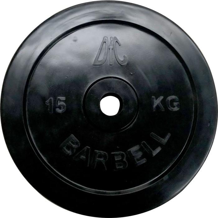Диск обрезиненный DFC 31 мм. 15 кг. черный