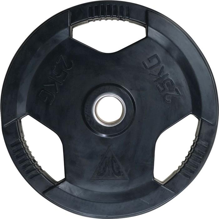 Диск обрезиненный DFC 51 мм. 25 кг. черный. с хватом