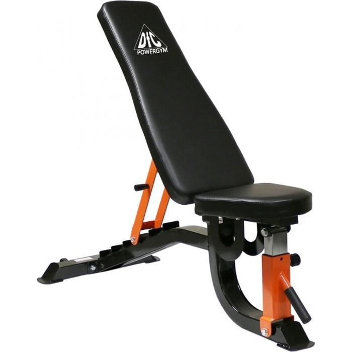 Скамья силовая DFC универсальная черная/оранж. DBCH2-1 силовая скамья со стойкой weider pro 490 dc