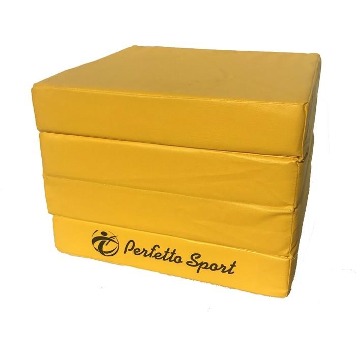 Мат PERFETTO SPORT Мат № 11 (100 х 100 х 10) складной 4 сложения жёлтый мат perfetto sport 11 100 х 100 х 10 складной 4 сложения красно жёлтый