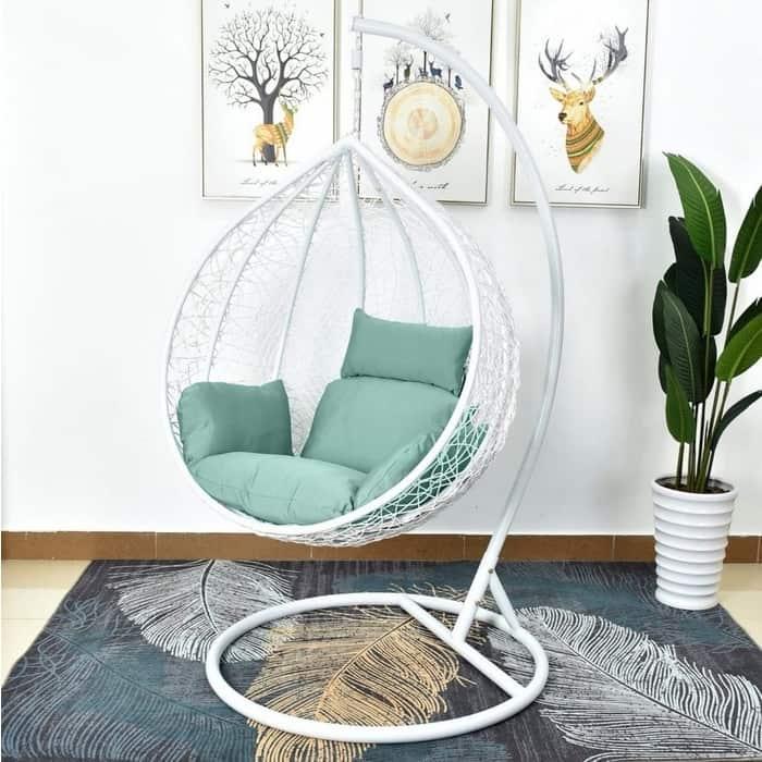 Подвесное кресло Afina garden AFM-168A-L white/green подвесное кресло afina garden afm 168a xl white green