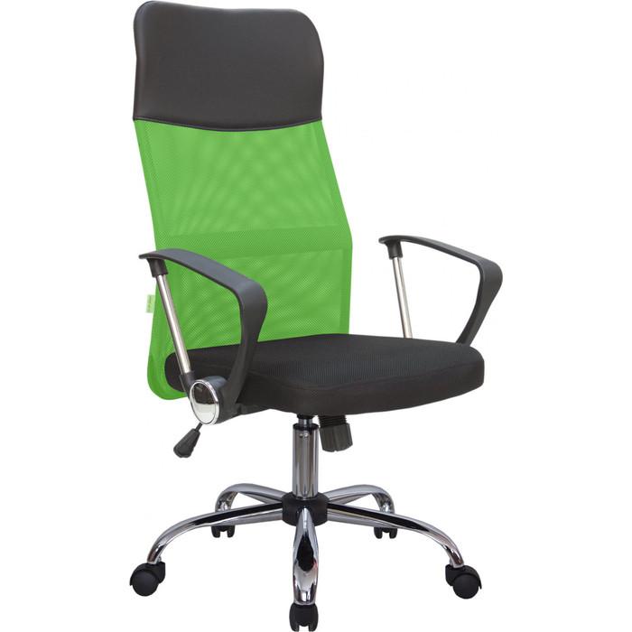 Кресло Riva Chair RCH 8074 черная ткань/зеленая сетка