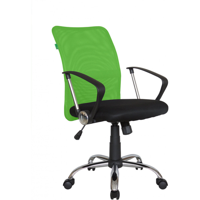 Кресло Riva Chair RCH 8075 черная ткань/зеленая сетка