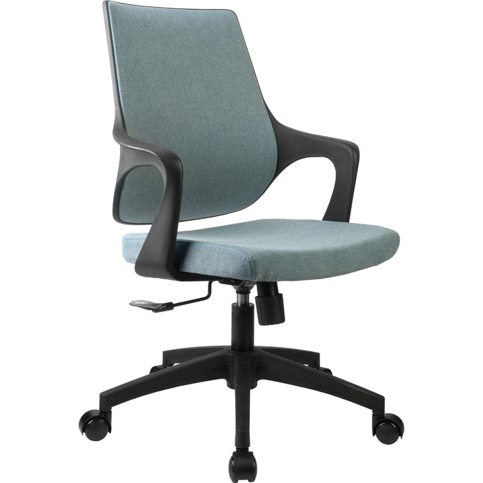 Кресло Riva Chair RCH 928 зеленый кашемир/черный пластик