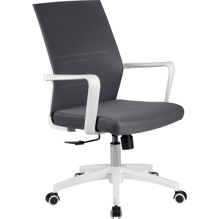 Кресло Riva Chair RCH B819 белый пластик/серая сетка