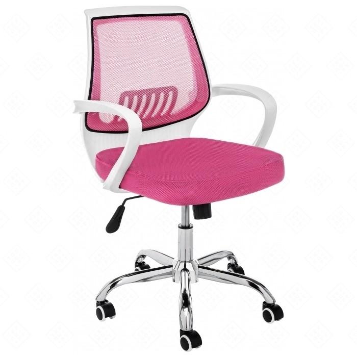 Компьютерное кресло Woodville Ergoplus белое/розовое