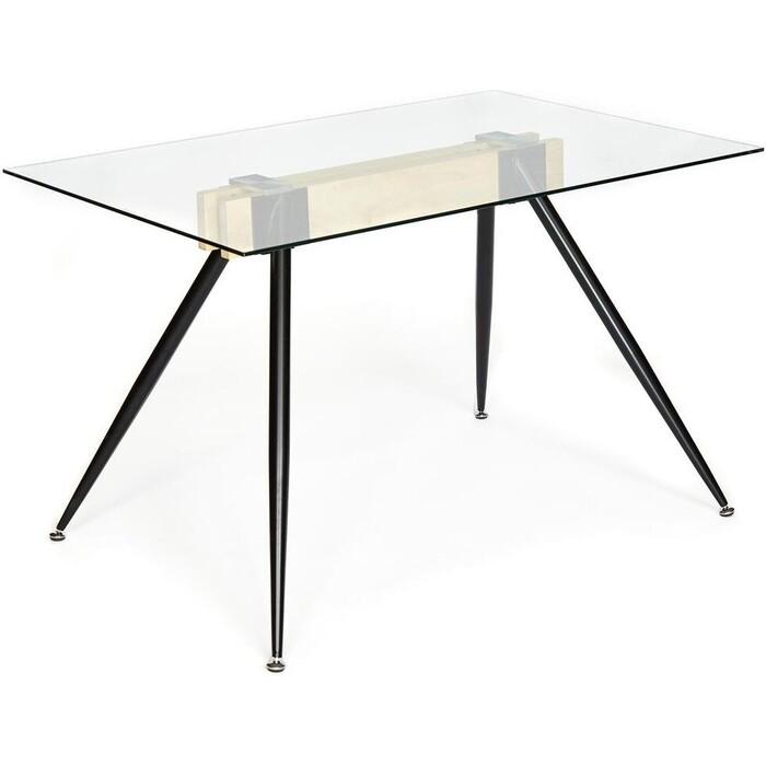 Стол TetChair Frondo (mod. DT1356) металл/стекло/дерево прозрачный/натуральный/черный стол tetchair brugge mod edt ve001 120 150х80х75 см