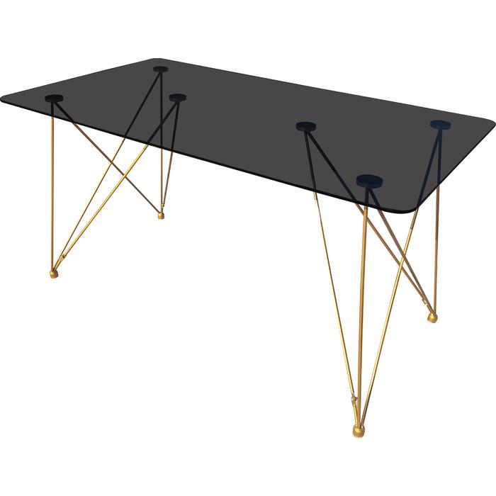 Стол TetChair Vulcano (mod. DT1423) металл/стекло черный/золотой