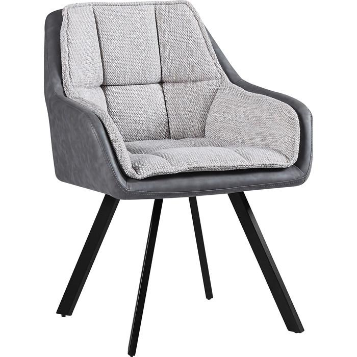 Кресло TetChair Vista ( mod. DC5067 L) металл/ткань/ PU бежевый/черный