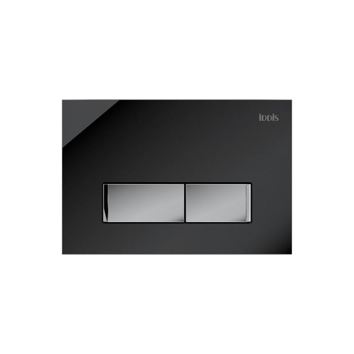 Клавиша смыва IDDIS Uniglass черное стекло (UNG10GBi77)