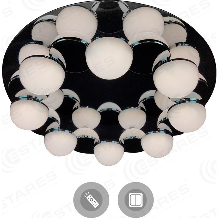 Управляемый светодиодный светильник Estares MOLECULA 120W R-550-CHROME/WHITE-220-IP40