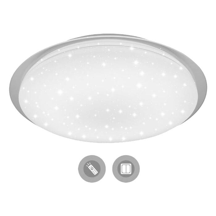 Управляемый светодиодный светильник Estares SATURN 25W RGB R-328-SHINY/WHITE-220-IP44 /2019
