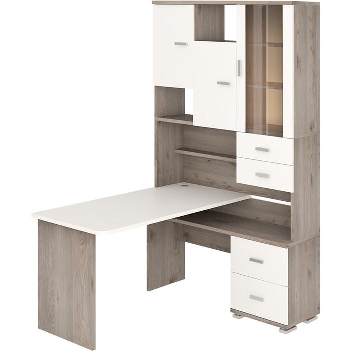 Фото - Стол компьютерный МЭРДЭС СР-620/140 НБЕБЕ-ПРАВ нельсон/белый/белый стол компьютерный мэрдэс ср 132 бе прав белый