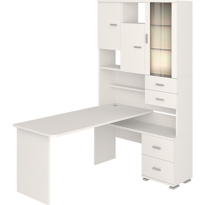 Фото - Стол компьютерный МЭРДЭС СР-620/160 БЕ-ПРАВ белый стол компьютерный мэрдэс ср 132 бе прав белый