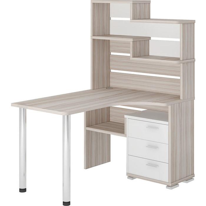 Фото - Стол компьютерный МЭРДЭС СР-132 КБЕ-ПРАВ карамель/белый стол компьютерный мэрдэс ср 320 вк прав