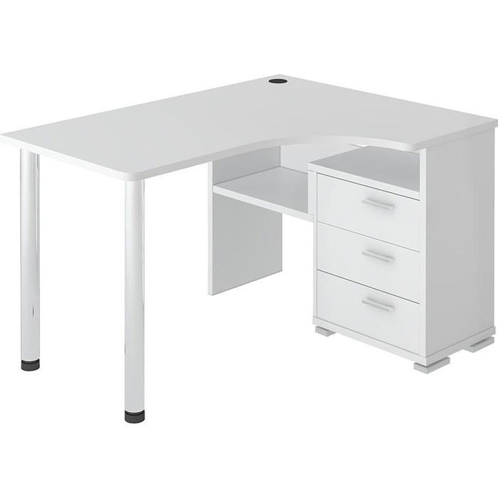 Стол компьютерный МЭРДЭС СР-132С БЕ-ПРАВ белый