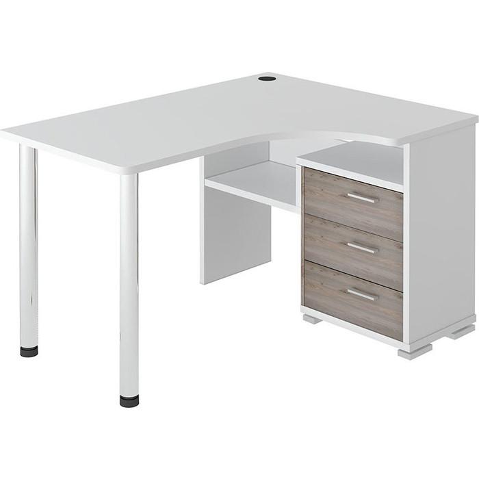 Фото - Стол компьютерный МЭРДЭС СР-132С БЕН-ПРАВ белый/нельсон стол компьютерный мэрдэс ср 320 вк прав