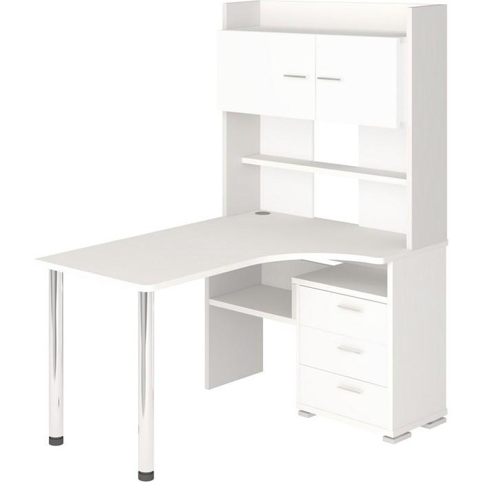 Фото - Стол компьютерный МЭРДЭС СР-133 БЕ-ПРАВ белый стол компьютерный мэрдэс ср 320 вк прав