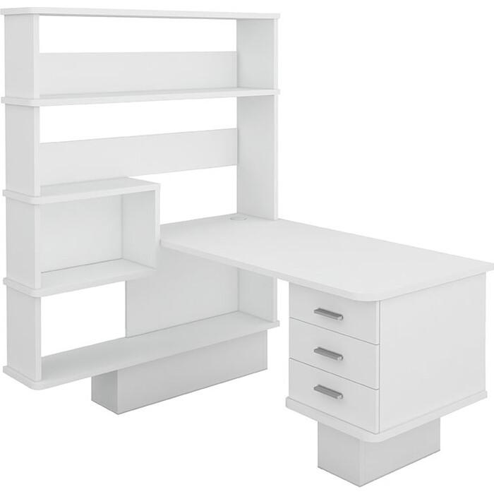 Фото - Стол компьютерный МЭРДЭС СР-520 БЕ-ЛЕВ белый стол компьютерный мэрдэс ср 132 бе прав белый