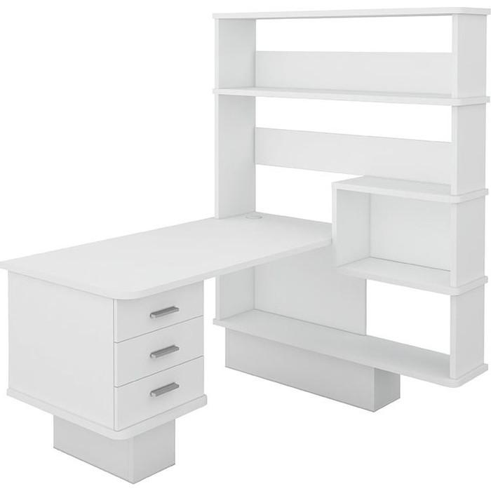 Фото - Стол компьютерный МЭРДЭС СР-520 БЕ-ПРАВ белый стол компьютерный мэрдэс ср 320 вк прав