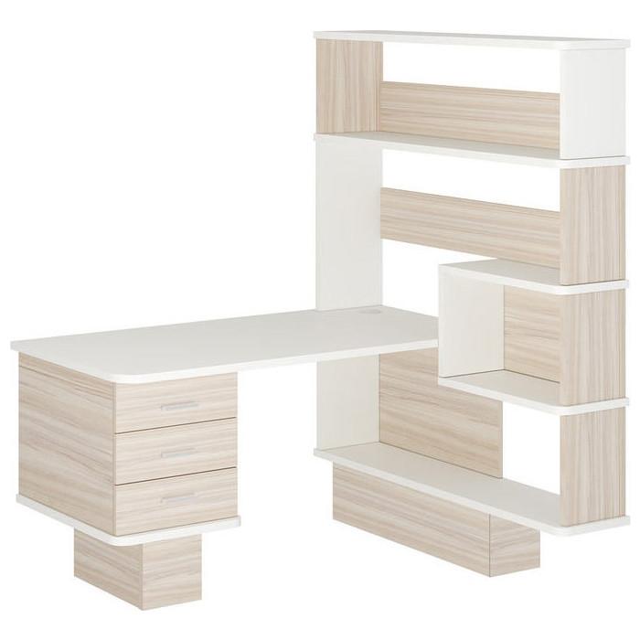Фото - Стол компьютерный МЭРДЭС СР-520 КБЕБЕ-ПРАВ карамель/белый/белый стол компьютерный мэрдэс ср 132 бе прав белый
